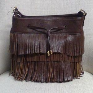 NWOT Ralph Lauren Brown Leather Satchel
